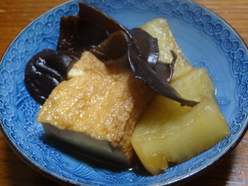 窯焼き叉焼丼、厚揚げの煮物、春雨と野菜の炒め物、烏賊の西京味噌漬けです。_c0225997_22223078.jpg