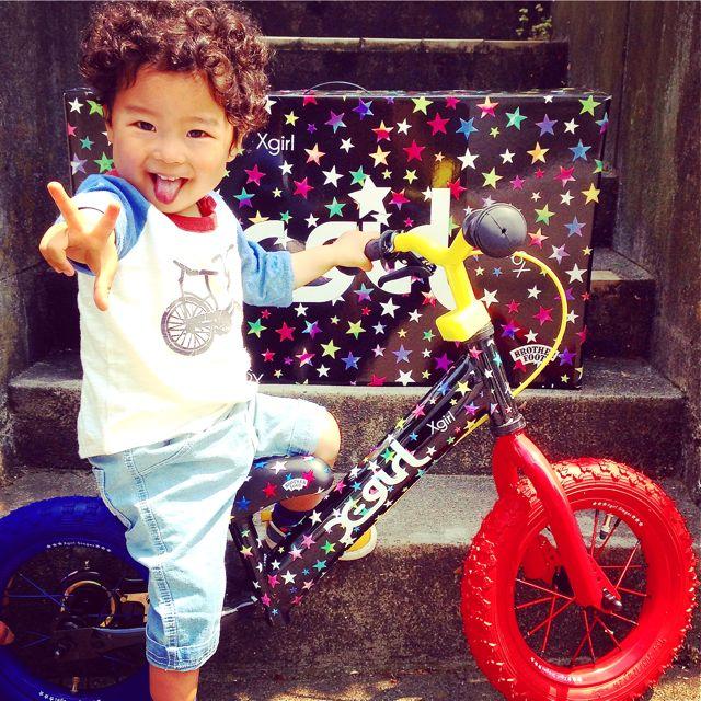 キックバイク「X-girl Stages」x「BROTHER FOOT」 バランスクルーザー ストライダー 自転車 おしゃれ 子供_b0212032_21211172.jpg