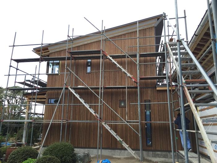 外壁の杉板と日本庭園_e0189939_182225.jpg