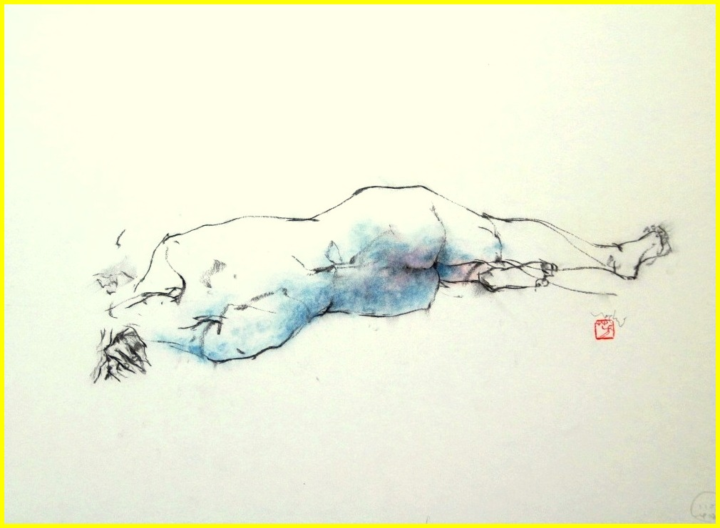 《 (菜の花十夜  8 )・・・esquisse裸婦木炭 》 _f0159856_8262243.jpg