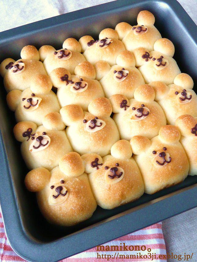 くまのちぎりパン Mamikonoハレの日のお菓子