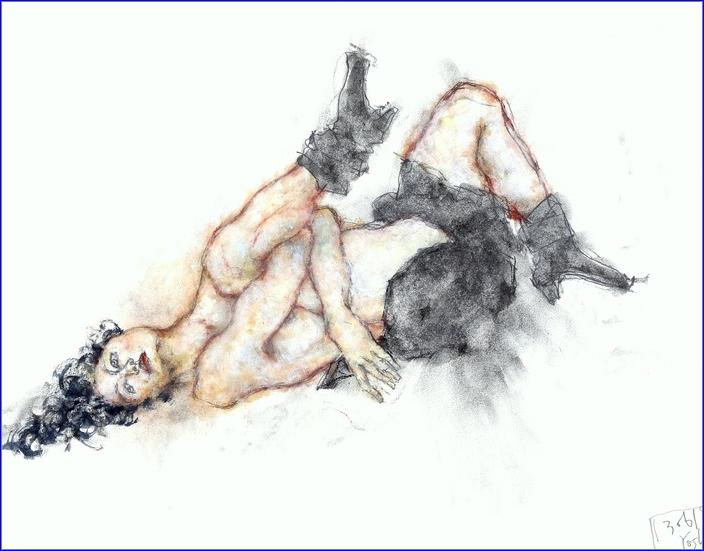 《 (菜の花十夜  らすとないと )・・・esquisse裸婦木炭・鉛筆・ドライブラシ 》 _f0159856_13203561.png