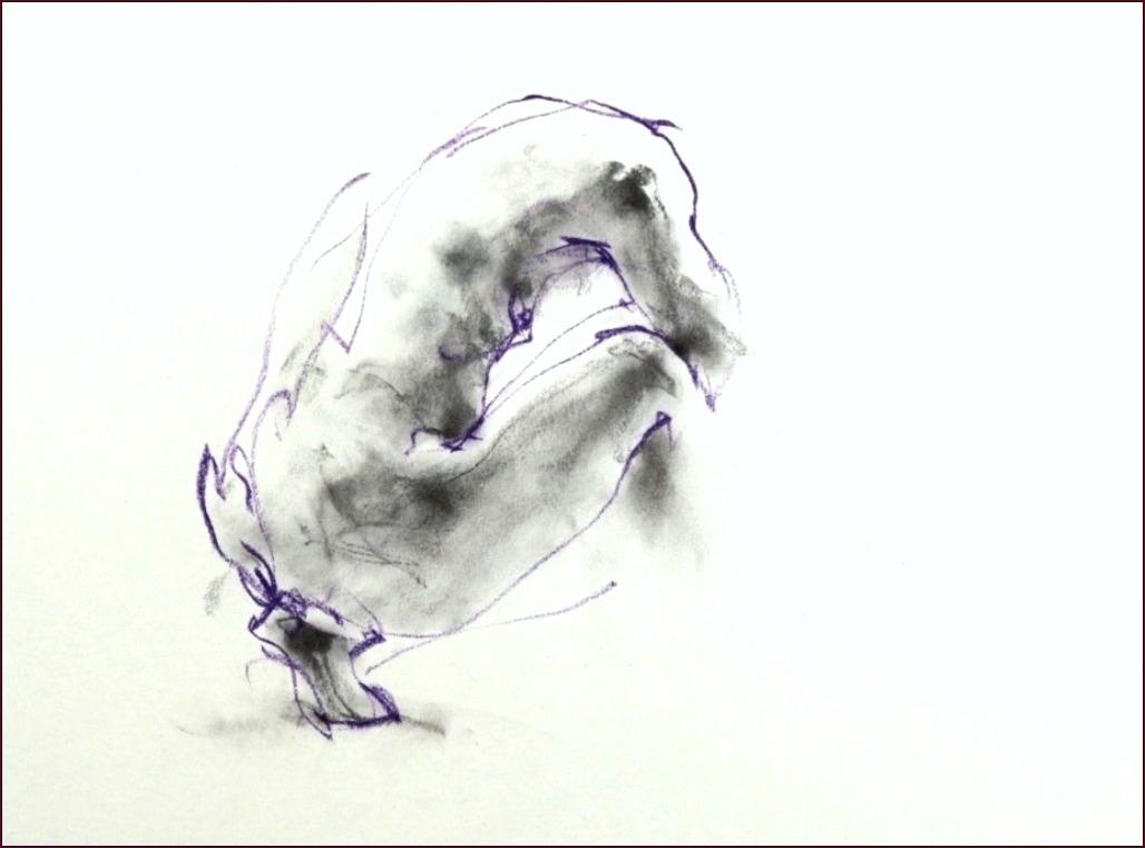 《 (菜の花十夜  9 )・・・esquisse裸婦ハードパステル・木炭 》 _f0159856_13275118.jpg