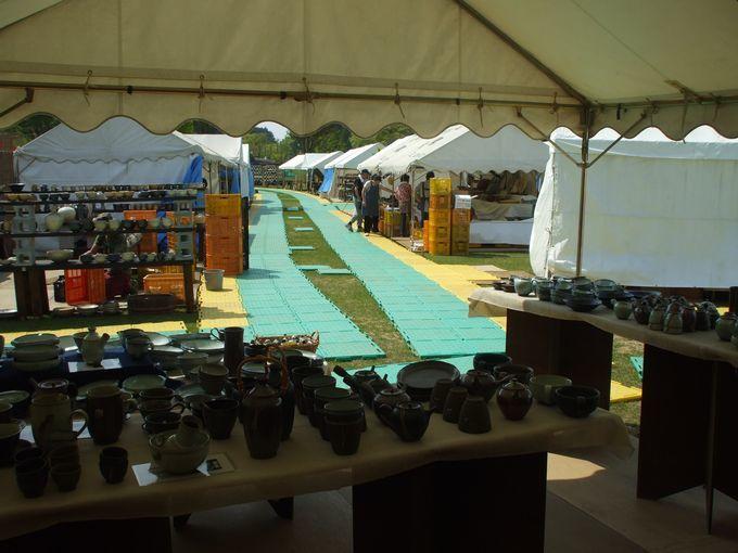 明日から開催 笠間の陶炎祭(ひまつり)会場の午後三時_f0229883_17541585.jpg