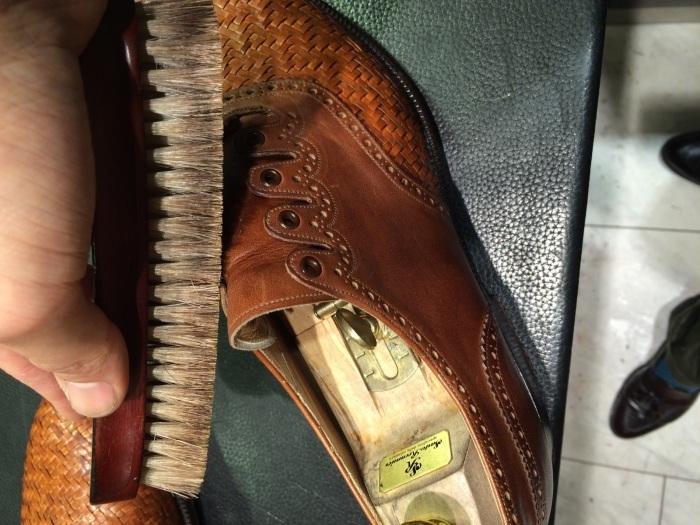 メッシュレザーの靴のお手入れには?_b0226322_10451529.jpg