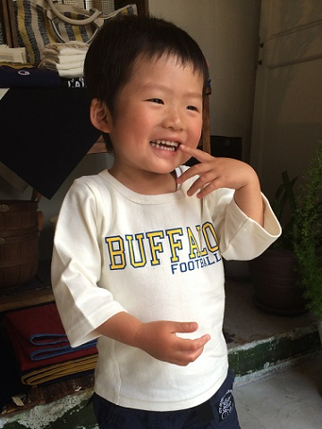 Champion kid\'s : Reverse Weave 七分袖 Tee_a0234452_2181819.jpg