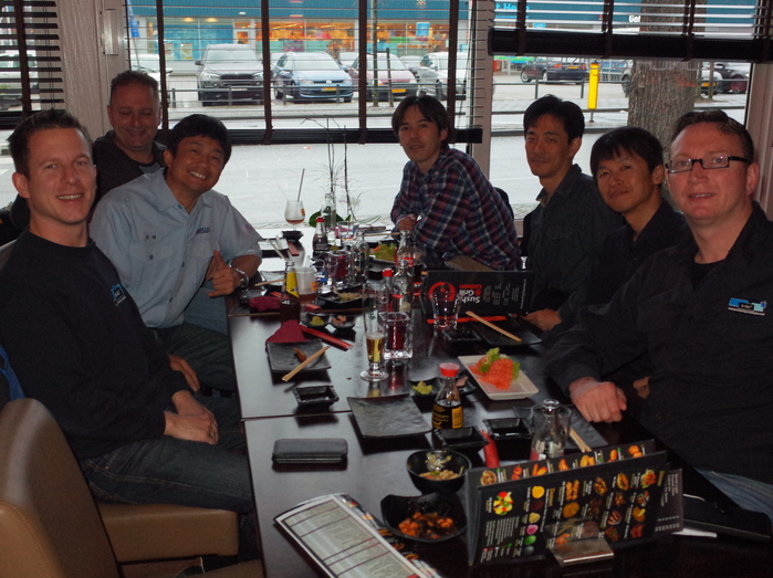 dinner with my project members in Netherlands._c0067646_052721.jpg