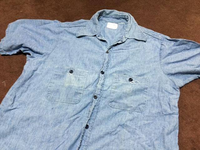 5/2(土)入荷!ゴールデンウィーク第2弾!70's all cotton 半袖シャンブレーシャツ!_c0144020_1635310.jpg
