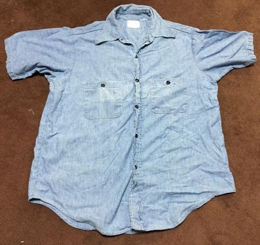 5/2(土)入荷!ゴールデンウィーク第2弾!70's all cotton 半袖シャンブレーシャツ!_c0144020_1635532.jpg
