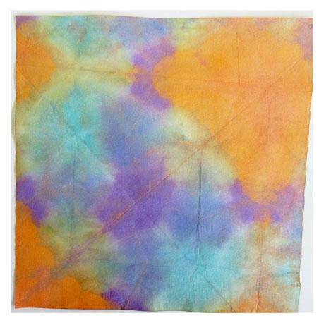 折り染め・たたみ染め ひろがる色の世界・小学生クラス _f0211514_19503342.jpg