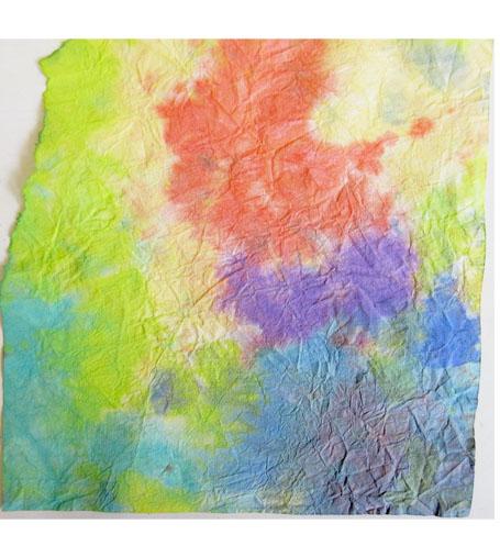 折り染め・たたみ染め ひろがる色の世界・小学生クラス _f0211514_19504338.jpg