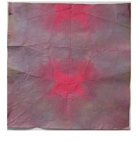 折り染め・たたみ染め ひろがる色の世界・小学生クラス _f0211514_19544312.jpg