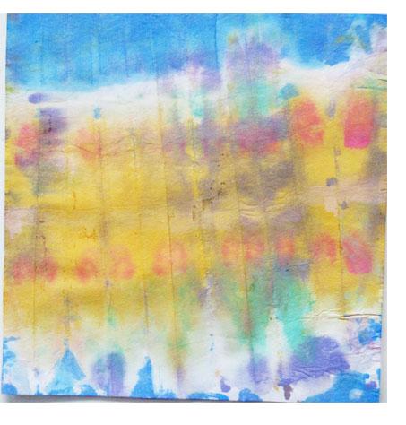 折り染め・たたみ染め ひろがる色の世界・小学生クラス _f0211514_19584233.jpg