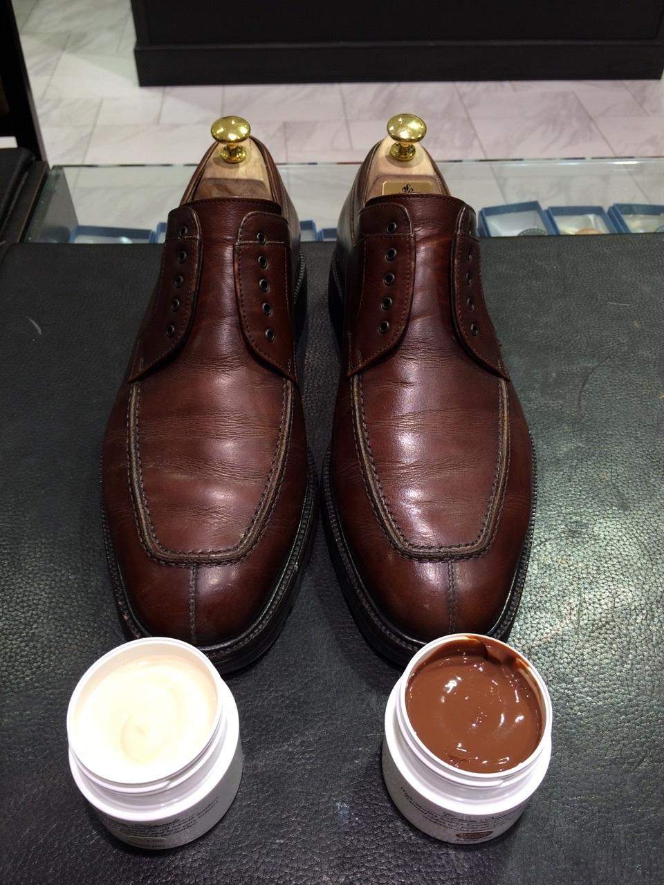 茶色の靴にはどっちのクリーム?_b0226322_13015784.jpg