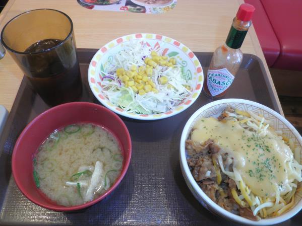 すき家のトローリ3種のチーズ牛丼  宝塚中筋店_c0118393_1430059.jpg
