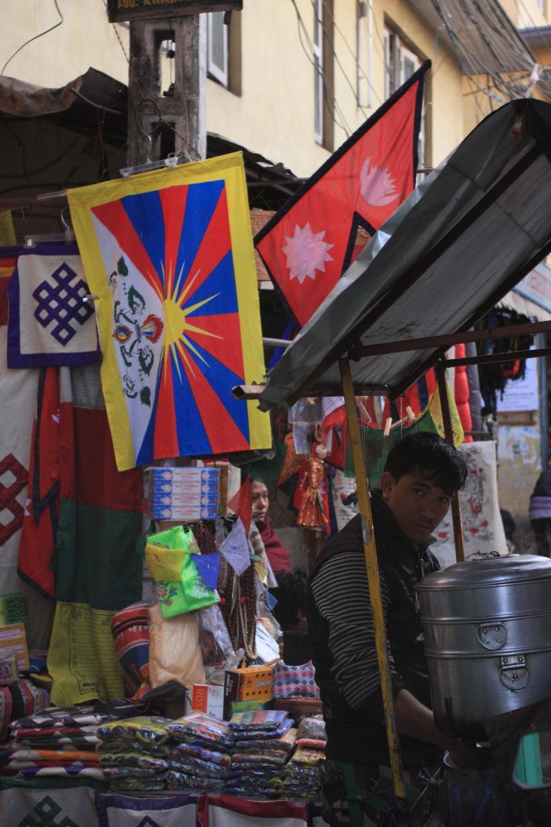 カトマンズ  雪山獅子旗(チベット国旗)_b0061717_2203775.jpg