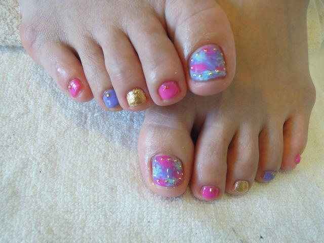 Marble Foot Nail_a0239065_15183763.jpg