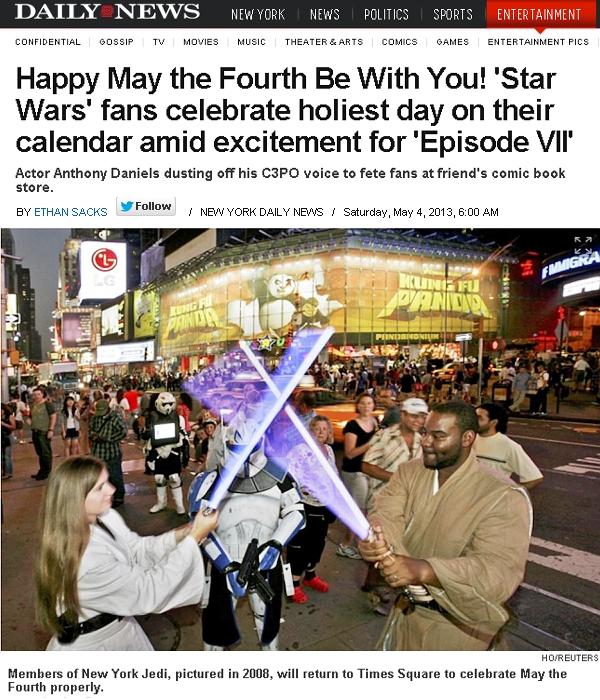 5月4日はスター・ウォーズの日 May the force be with you!_b0007805_230189.jpg