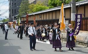 熊野神社の神幸祭で「勤王隊」に参加!_b0067283_18171145.jpg