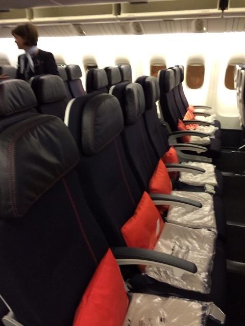 リニューアルされたエールフランス航空のエコノミークラスに ...