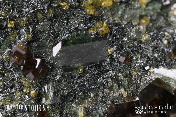 アンドラダイトガーネット、クリノクロア、ダイオプサイド原石(パキスタン産)_d0303974_16212081.jpg