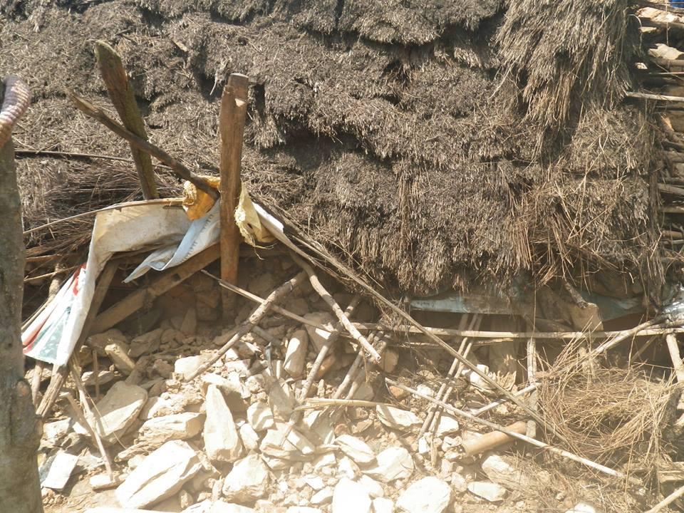 震源地に近い、ゴルカから送られてきた写真です_e0155231_1852376.jpg