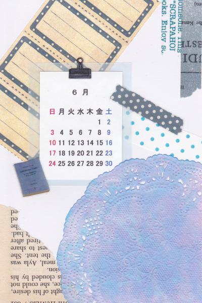 コラージュカレンダー[6月]_d0285885_14112563.jpg