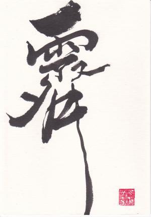 第12回書文通6月「雨がつく漢字」_d0285885_14113571.jpg