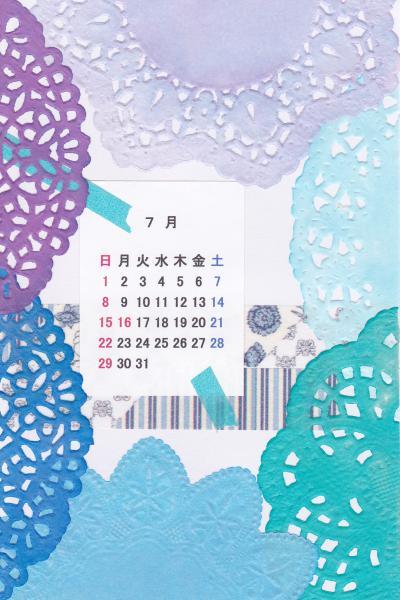 コラージュカレンダー[7月]_d0285885_14113708.jpg