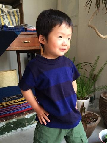 homspun kid\'s : 太ボーダー半袖 T シャツ_a0234452_20412091.jpg