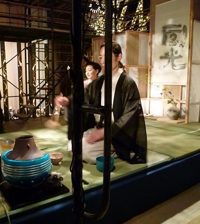 わーと日本橋・着いたらまず、素晴らしい光の茶会へ。_f0181251_1725874.jpg