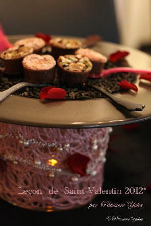 Pâtissière Yuka お菓子アルバム ~St-valentin ③~ 「Brownies」&「Mousse au chocolat blanc」_c0138180_18112636.jpg