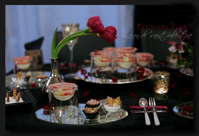 Pâtissière Yuka お菓子アルバム ~St-valentin ③~ 「Brownies」&「Mousse au chocolat blanc」_c0138180_18125361.jpg