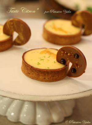 Pâtissière Yuka お菓子アルバム Ⅱ-② 「Tarte au citron」&「Cake au citron」_c0138180_21201273.jpg