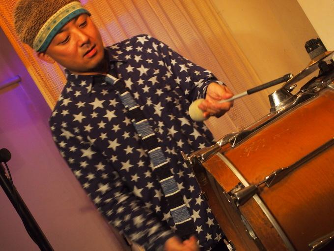 キナちゃんねるLIVE 14   guest:ANTON(大太鼓・Drum)_f0115311_15343134.jpg