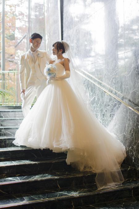 新郎新婦様からのメール プリザーブドブーケ、椿山荘様へ ドレスの次に大事なのはブーケ_a0042928_20335615.jpg