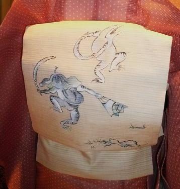 わーと日本橋・竺仙絹紅梅・きもの鶴のコーディネイト。_f0181251_16463174.jpg