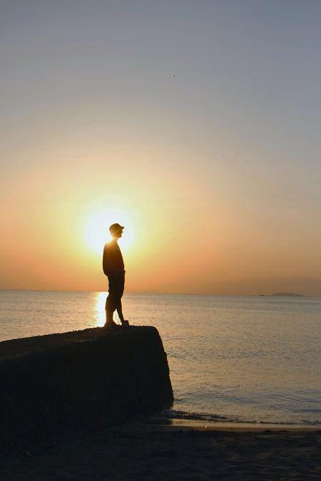 Sunset  at  Akiya beech_d0150720_1834427.jpg
