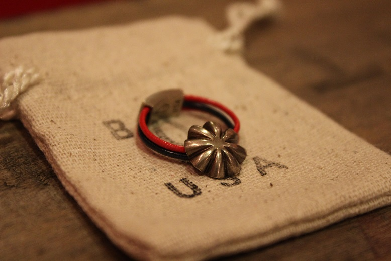"""Button Works \""""NAVAJO CONCHO LEATHER RING & BRACELET\"""" ご紹介_f0191324_10505138.jpg"""