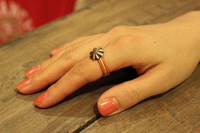 """Button Works \""""NAVAJO CONCHO LEATHER RING & BRACELET\"""" ご紹介_f0191324_10512275.jpg"""