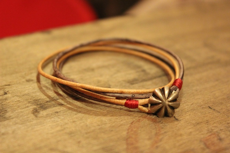 """Button Works \""""NAVAJO CONCHO LEATHER RING & BRACELET\"""" ご紹介_f0191324_10513941.jpg"""