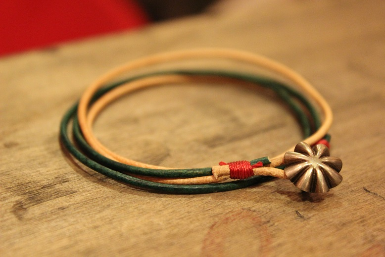 """Button Works \""""NAVAJO CONCHO LEATHER RING & BRACELET\"""" ご紹介_f0191324_10522048.jpg"""