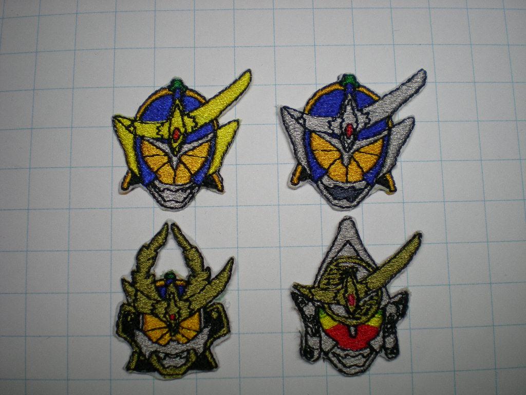 仮面ライダー鎧武 ズームの ハンドメイドの刺繍ワッペン