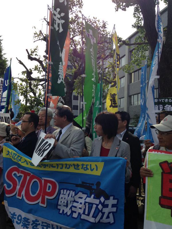 レッドアクション 官邸前抗議 ほか_f0212121_15173935.jpg