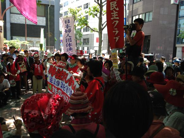 レッドアクション 官邸前抗議 ほか_f0212121_15185467.jpg