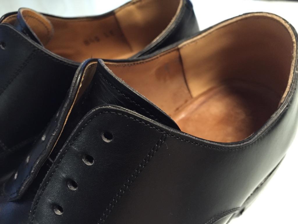 革靴 かかと内側破れ修理_b0178425_19162100.jpg