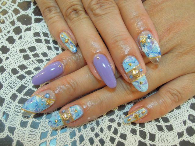 Marble Nail_a0239065_1649323.jpg
