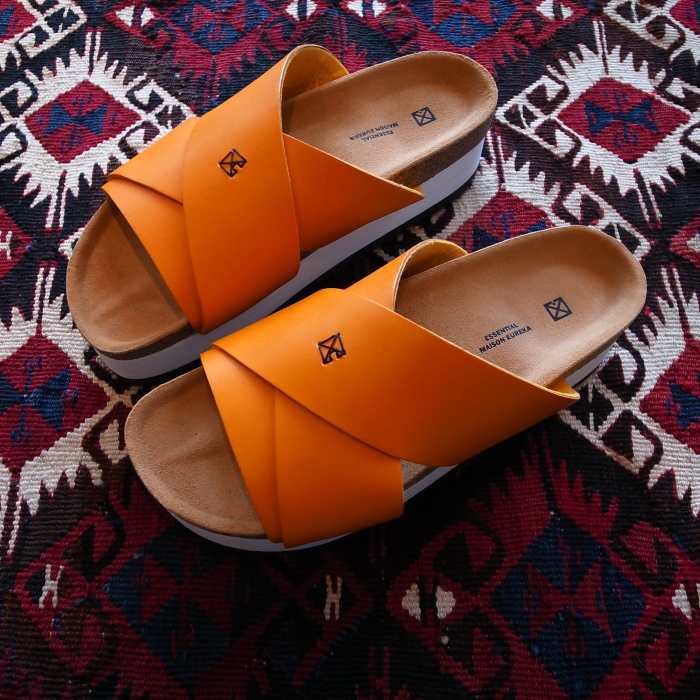 MAISON EUREKA CROSS OVER SANDAL ORANGE_f0111683_13272884.jpg