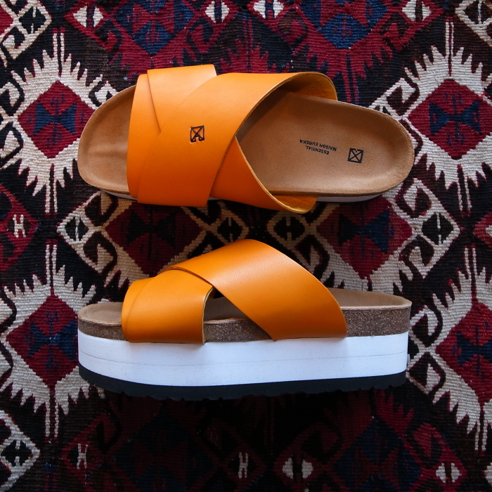 MAISON EUREKA CROSS OVER SANDAL ORANGE_f0111683_13273512.jpg