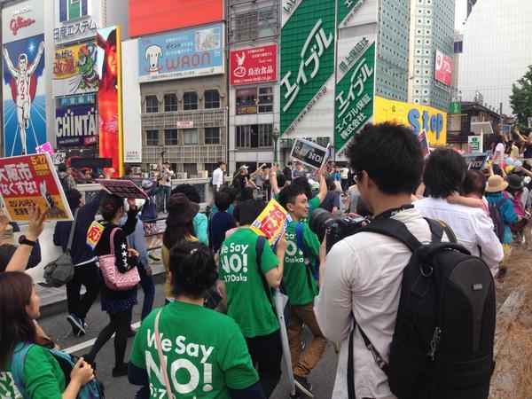 「つぶせ都構想!」大阪サウンドデモに600人_f0212121_18153569.jpg